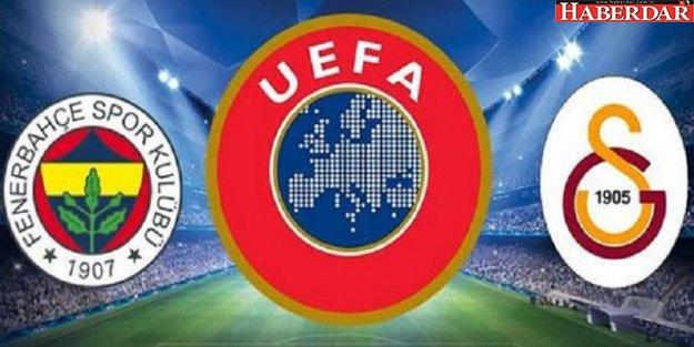 Galatasaray ve Fenerbahçe'nin UEFA Avrupa Ligi'nde rakipleri belli oldu
