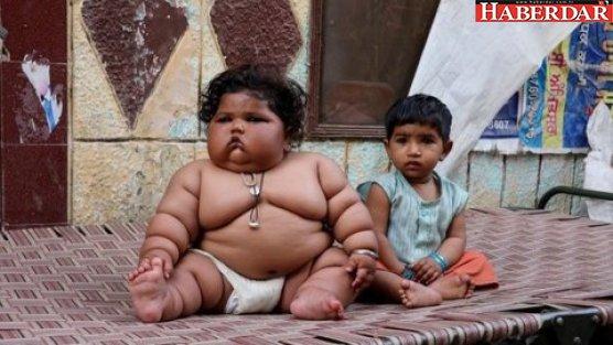 Görenler şaşırıyor: 8 aylık ama 117 kilo!