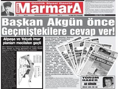 HABER  MARMARA GAZETESİ'NDEN 'HABERDAR'A DESTEK