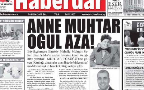 HABERDAR YAZDI AZA İSTİFA ETTİ!