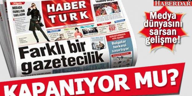 HABERTÜRK GAZETESİ KAPANIYOR....