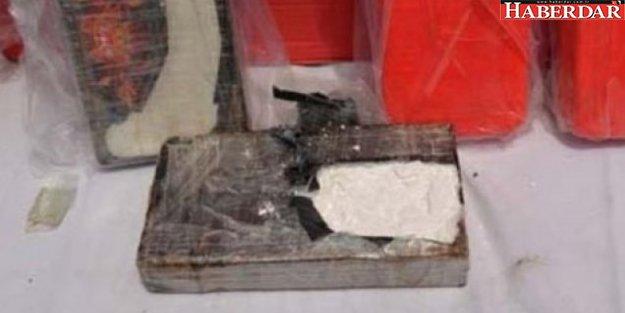 'Helal et' kutusunda kilolarca eroin ele geçirildi