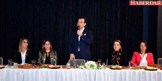 İmamoğlu CHP'nin kadın yöneticileri ile buluştu