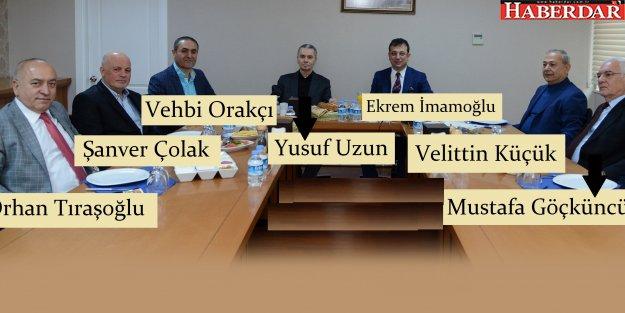 İmamoğlu, eski belediye başkanlarını ağırladı