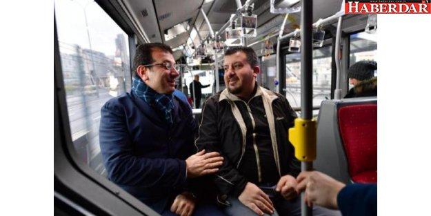 İmamoğlu, hayali 'metrobüs almak' olan vatandaş ile buluştu