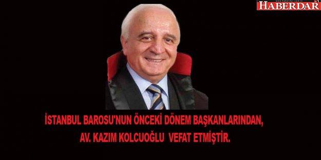 İstanbul Barosu eski başkanı Kazım Kolcuoğlu vefat etti