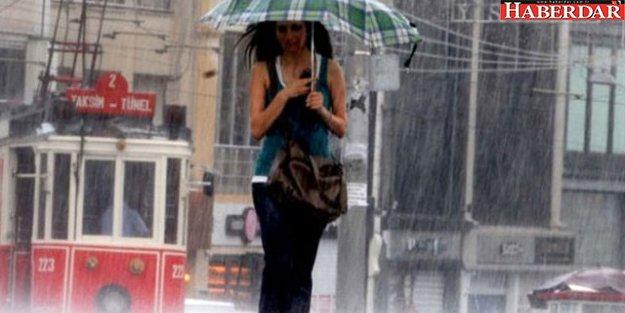 İstanbul'da Akşam Saatlerinde Sağanak Yağış Görülecek