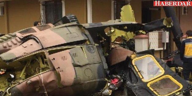 İstanbul'da askeri helikopter düştü! 4 asker şehit