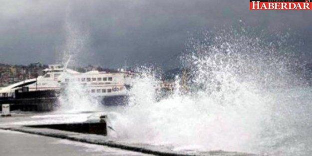 İstanbul'da fırtına! Bazı İDO seferleri iptal edildi