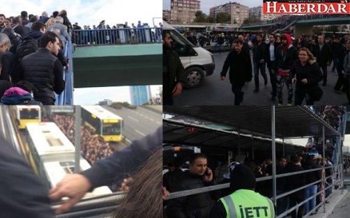 İstanbul'da metrobüs çilesi: 1 yaralı!