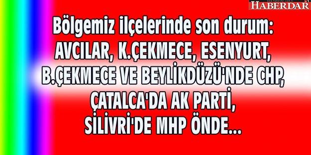 İstanbul ilçelerinde son durum...