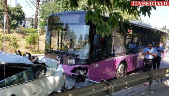 İstanbul'un Göbeğinde Halk Otobüsü 9 Otomobili Biçti: 11 Yaralı!