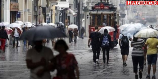 İstanbul yağışlı havanın etkisi altında