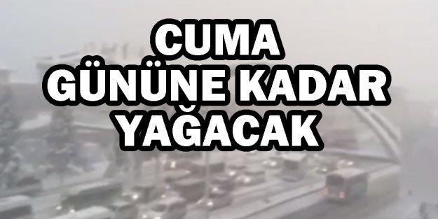 İstanbul'da bazı bölgelerde 40-60 santimetre kalınlığında kar