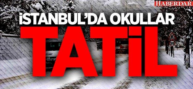 İstanbul'da okullar yarın tatil edildi
