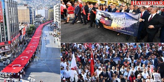 İzmir'de 9 Eylül coşkusu 'Zafer Yürüyüşü' ile başladı