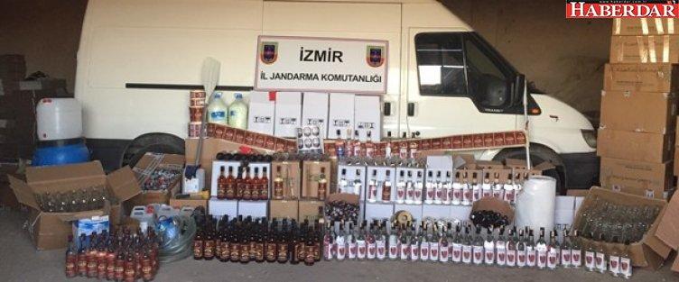 İzmir'de sahte içki operasyonu: 4 gözaltı