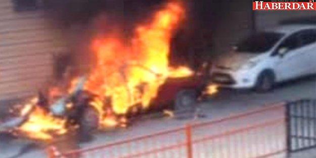 Kağıthane'de Otomobil Bomba Gibi Patladı!