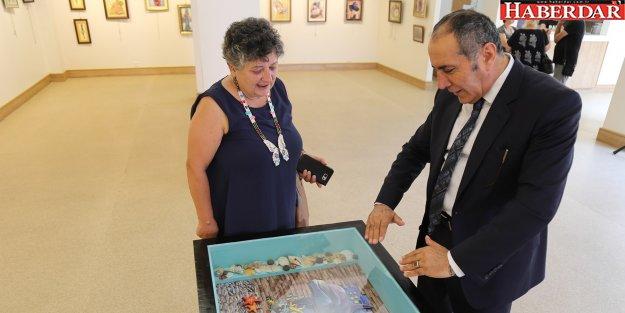 Kamile Kaş, ilk kişisel sergisini Büyükçekmece'de açtı