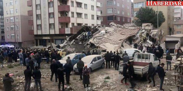 Kartal'da 8 katlı bina çöktü.. Ölü ve yaralılar var...