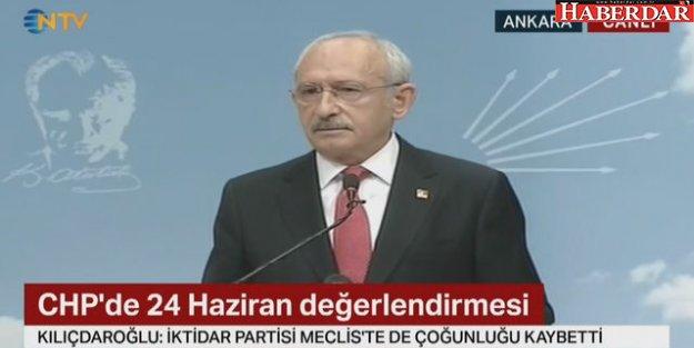 Kemal Kılıçdaroğlu'ndan ilk açıklama: Seçimin tek kaybedeni AK Parti'dir