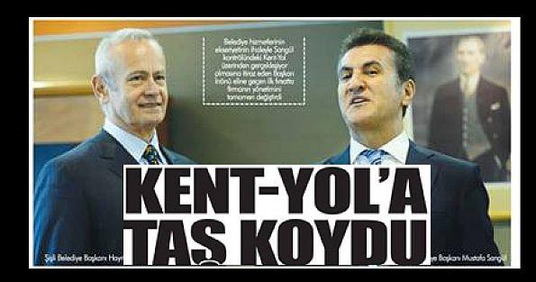KENT YOLA TAŞ KOYDU