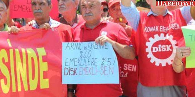 KESK: 'Saray sefada, emekliler cefada'