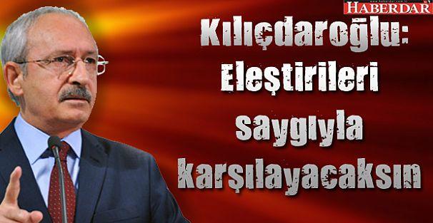 Kılıçdaroğlu: Kimsin sen?