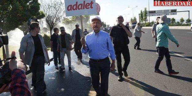 Kılıçdaroğlu'nun 'Adalet Yürüyüşü'nün 2'inci etabı başladı