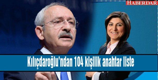 Kılıçdaroğlu'ndan 104 kişilik anahtar liste