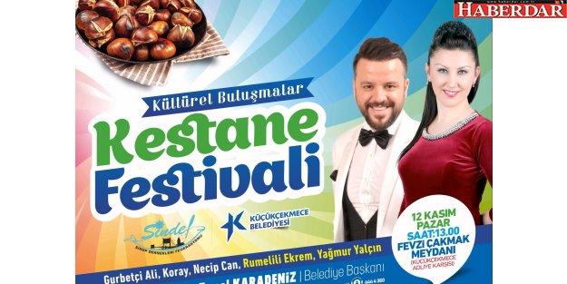 Küçükçekmece'de Kestane Festivali