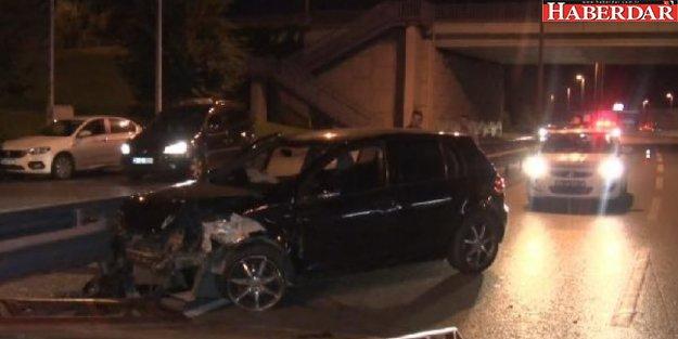 KÜÇÜKÇEKMECE'de trafik kazası: 1 yaralı