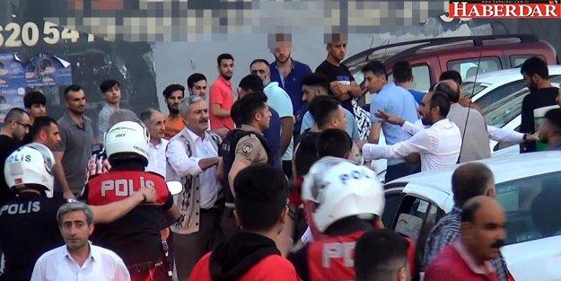 Laf atma kavgasına polis müdahale etti