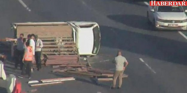 Mahmutbey gişelerde kaza