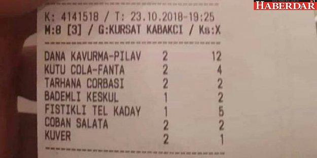 Meclis lokantasındaki hesap sosyal medya gündemine oturdu