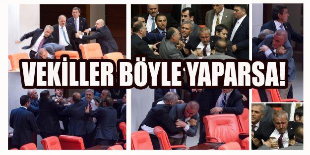 Meclis'te AK Partili ve MHP'li milletvekilleri arasında kavga