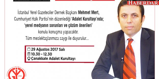 ADALET KURULTAYI'NDA YEREL MEDYA'YI ANLATACAK