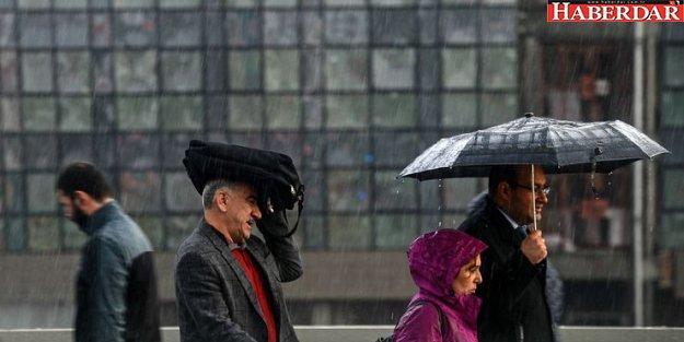 Meteoroloji'den İstanbul'a hem sağanak hem de rüzgar uyarısı