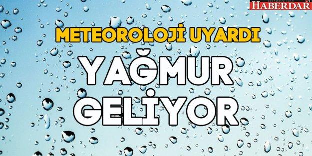 Meteoroloji uyardı, yağmur geliyor...