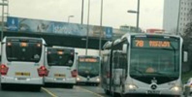 Metrobüs yolunda korkunç...