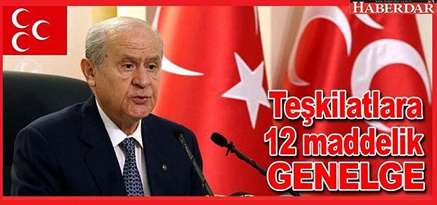MHP lideri Bahçeli'den ilçe teşkilatlarına genelge