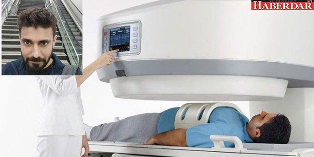 MRI cihazı adamı yuttu