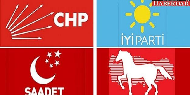 Muhalefetten 4 parti ittifakta anlaştı!