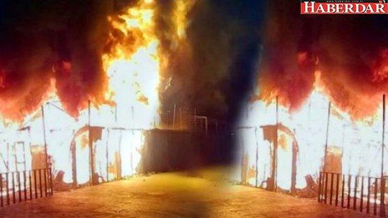 Mülteci kampını ateşe verdiler