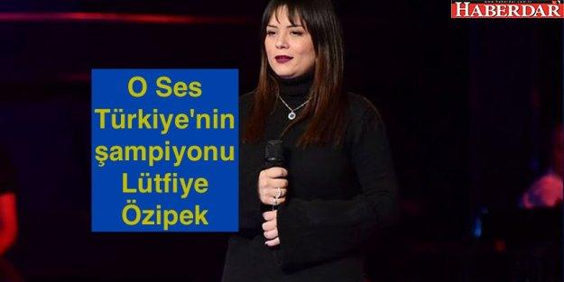 O Ses Türkiye'nin bu yılki birincisi Lütfiye Özipek oldu.