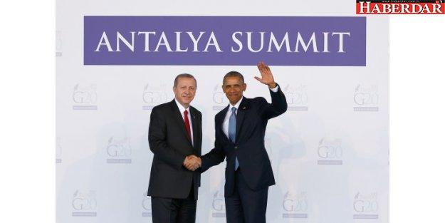 Obama ile Erdoğan Fransa'da görüştü
