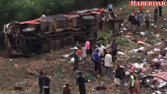 Otobüs faciaya yol açtı: 42 ölü