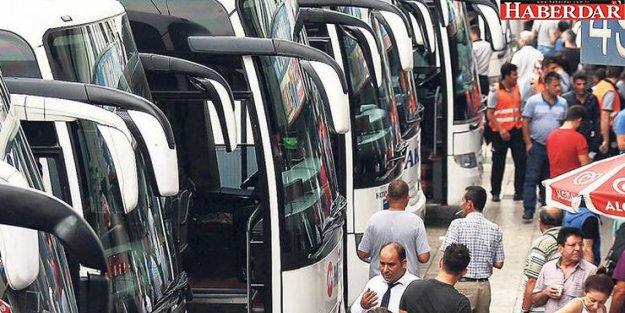 Otobüsçülere bayram bereketi