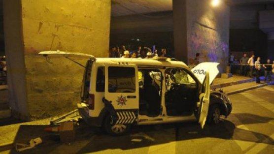 Polis aracı kaza yaptı: 1 şehit
