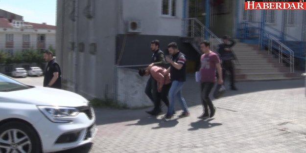Polise silah çekti gözaltına alındı